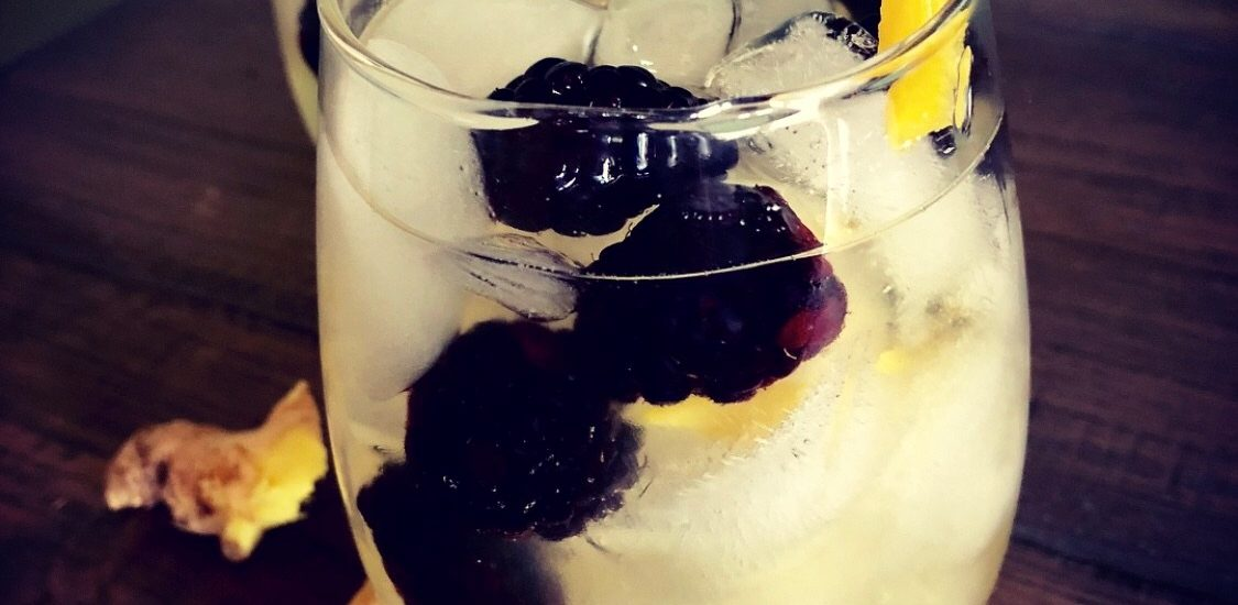 Ginger and Blackberry White Wine Sangria