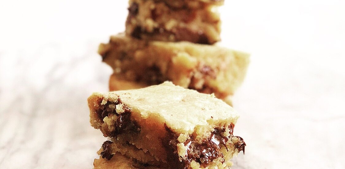 Maple Bourbon Blondies