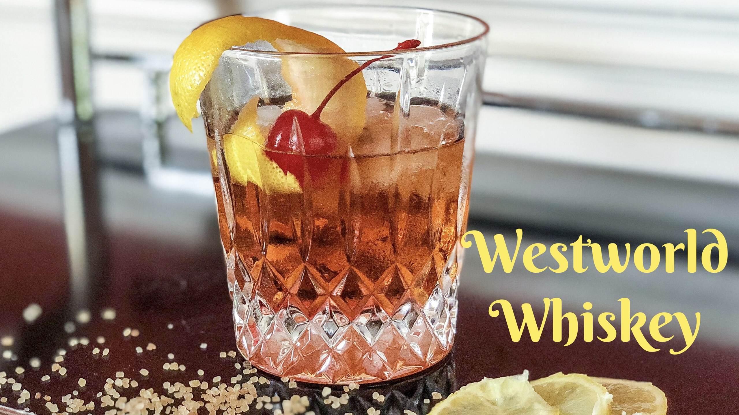 Westworld Themed Whiskey Cocktail