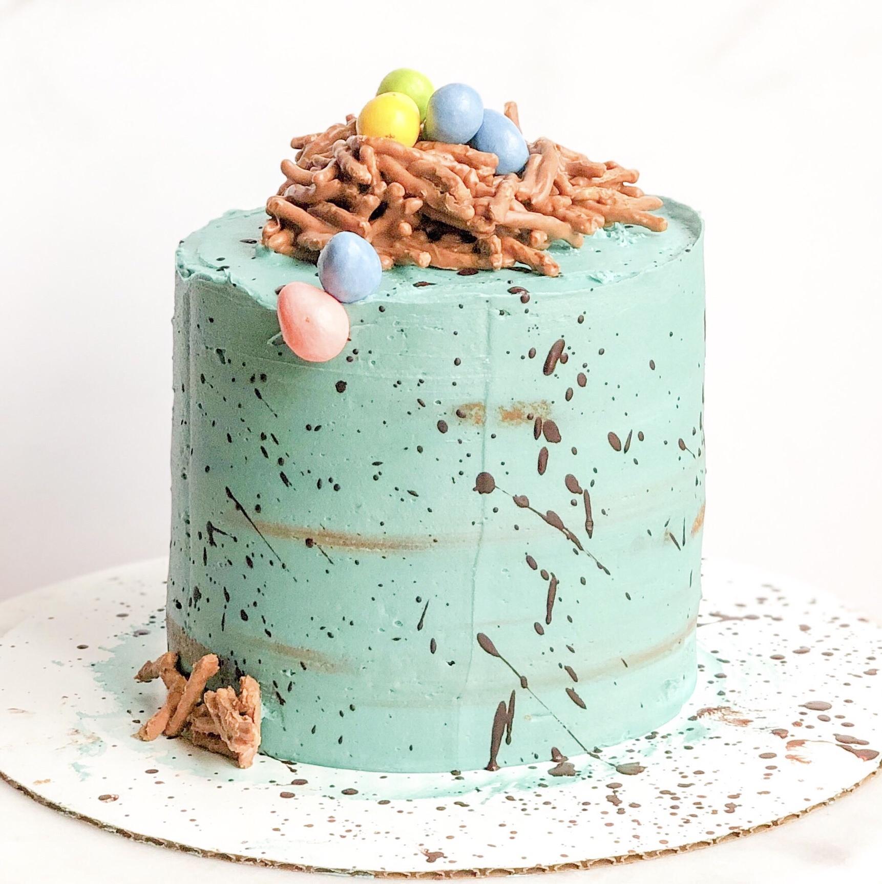 Speckled Easter Malt Cake