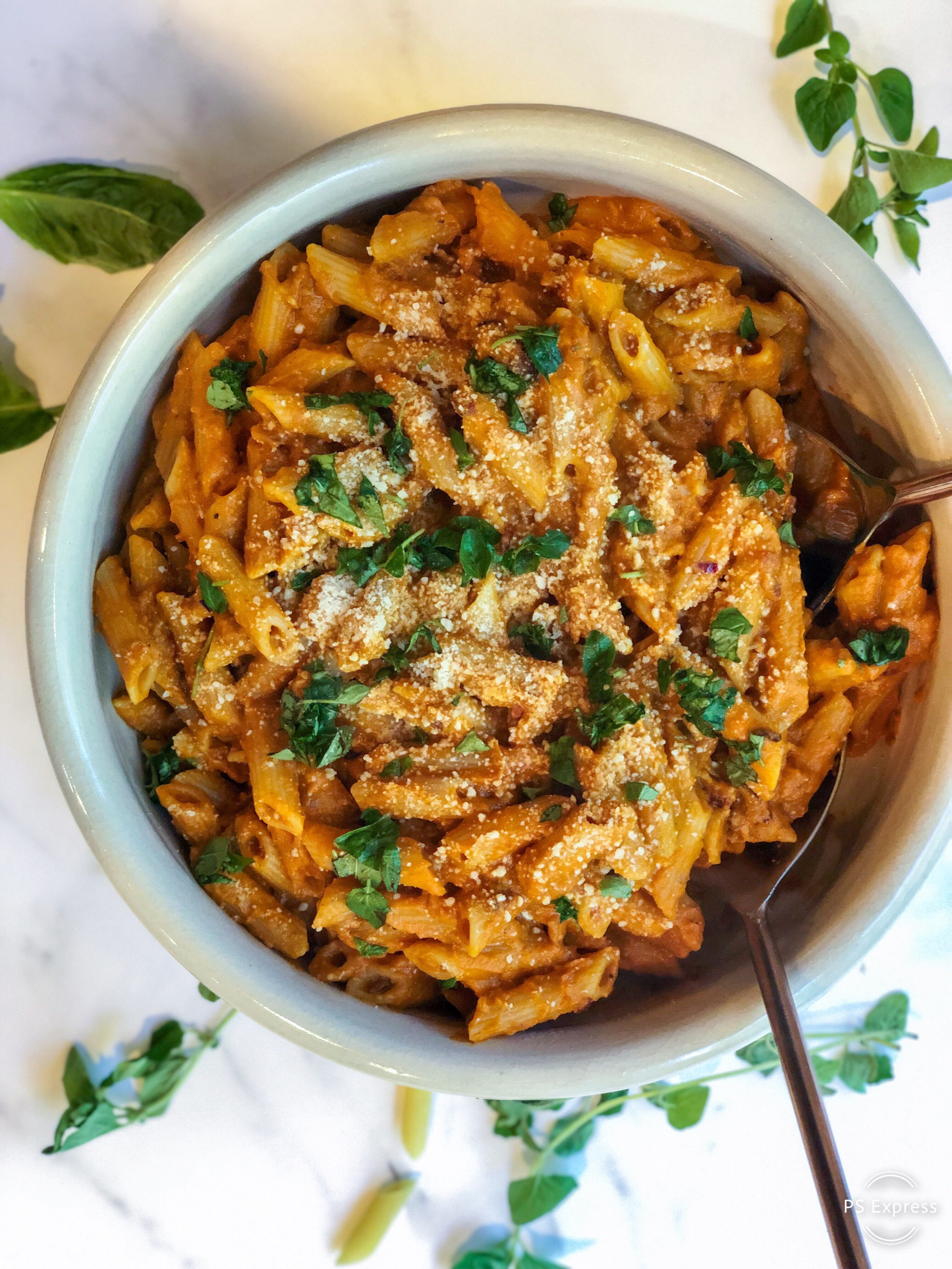 Pumpkin Vodka Penne