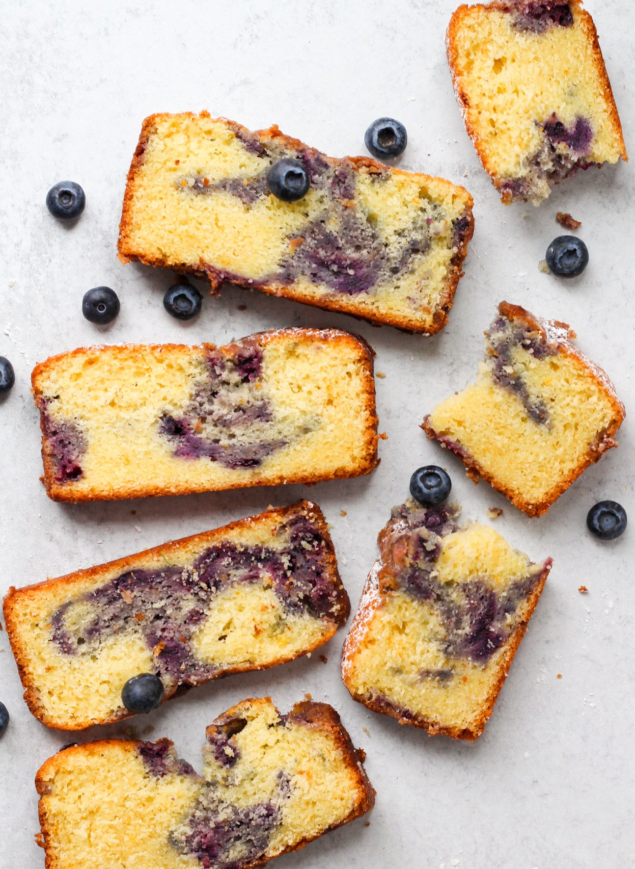 Mandarin Blueberry Swirl Cake & A Psychic Reading