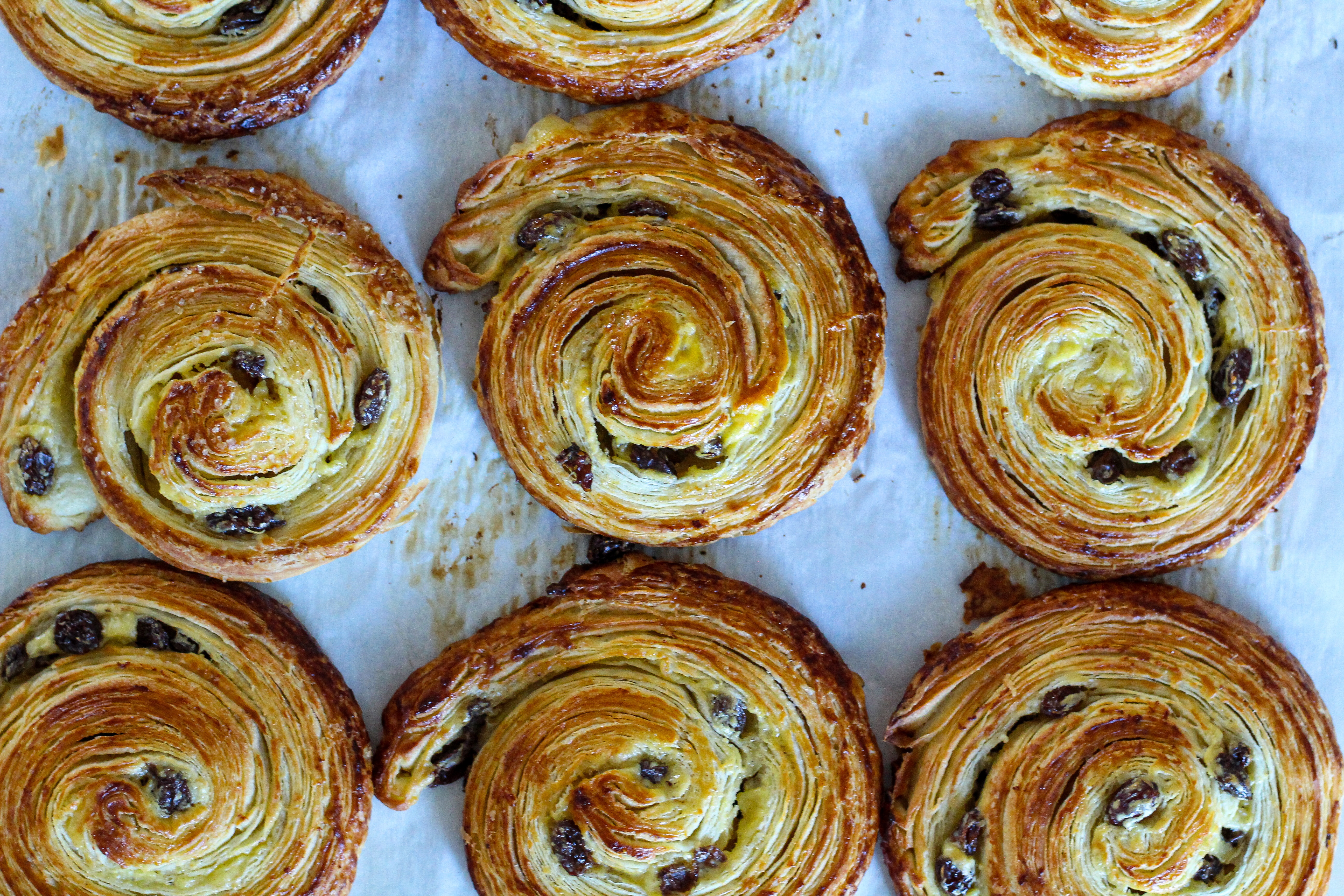 Pain Aux Raisin With Rum Glaze